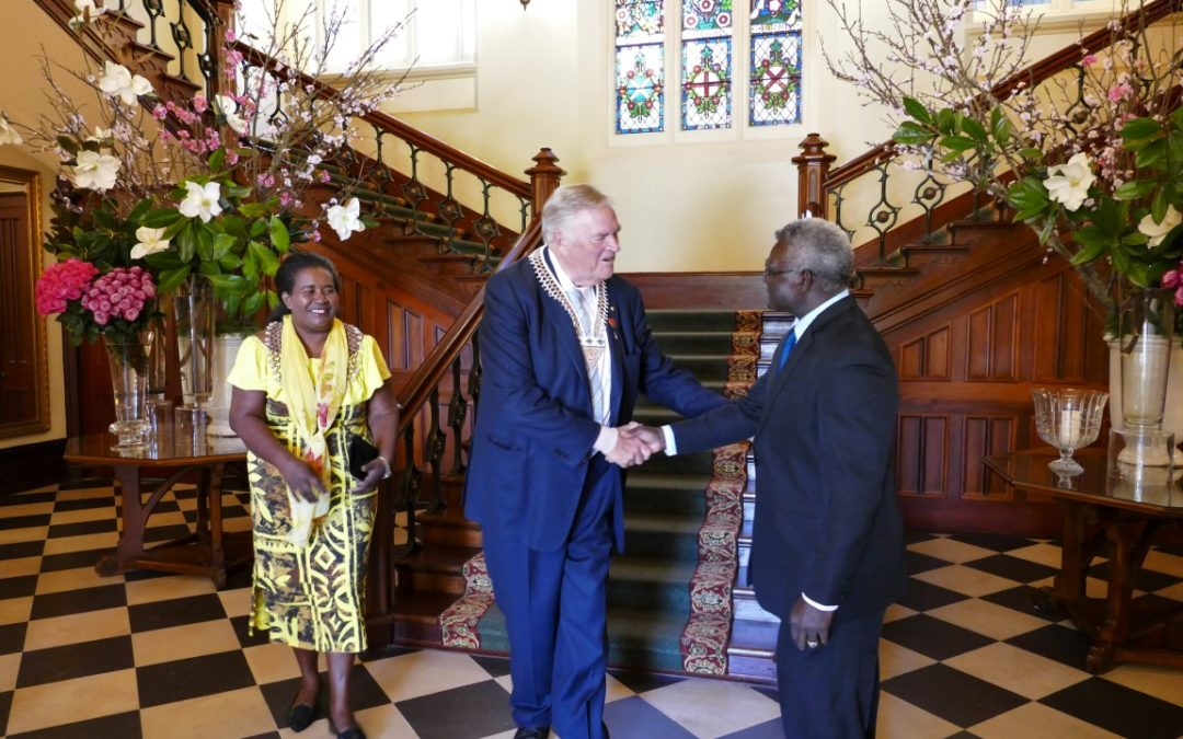 8th November 2019^Met with Prime Minister of the Solomon Islands