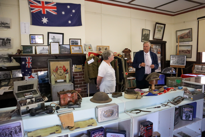 The Governor with Kaye Lewis Moora Historical Society